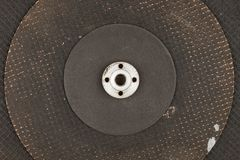 Texture de trois disques de coupure au-dessus du métal se trouvant sur l'un l'autre Images stock