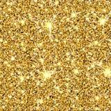 Texture de vecteur de scintillement d'or Photo stock