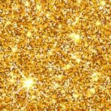 Texture de vecteur de scintillement d'or Photographie stock libre de droits