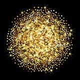 Texture de vecteur de scintillement d'or Photographie stock