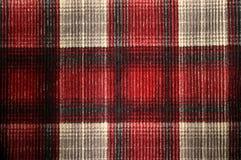 Texture de velours côtelé de plaid Image libre de droits