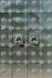 Texture de vieilles portes en métal Images stock