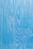 Texture de vieux conseil en bois peint de couleur bleue photo stock