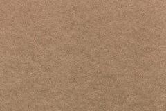 Texture de vieux fond de papier brun clair, plan rapproché Structure de carton dense Image libre de droits