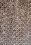 Texture de vieux métal ondulé Vieille plaque de métal rouillée pour empêcher glissement Fond, série de texture Photos libres de droits