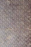 Texture de vieux métal ondulé Vieille plaque de métal rouillée pour empêcher glissement Fond, série de texture Images libres de droits