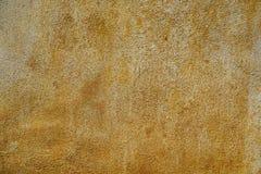 Texture de vieux métal rouillé et de peinture jaune Photo libre de droits