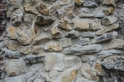 Texture de vieux mur de roche pour le fond Photo libre de droits