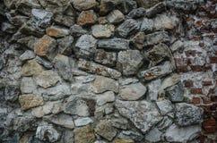Texture de vieux mur de roche pour le fond images stock