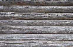 Texture de vieux murs superficiels par les agents de rondin Photos libres de droits