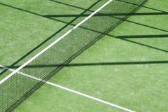 Texture de zone de camp d'herbe verte de tennis de palette images libres de droits