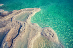 Texture of Dead sea Royalty Free Stock Photography