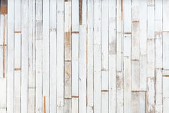 Texture of decorative old white wood stripe Royalty Free Stock Images