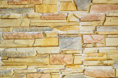 Texture  of the decorative stone brick Royalty Free Stock Photography