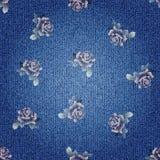 Texture of denim fabric Stock Image