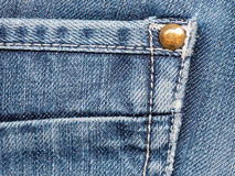 Texture of denim jeans close up Stock Images