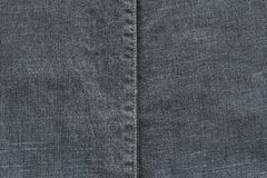 Texture denim with the stitched seam Stock Image
