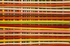 Texture des bâtons en bois colorés Historique complet Photos libres de droits