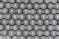 Texture des chaînes de rouleau Photo stock