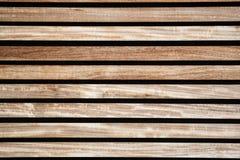 Texture des conseils en bois, du brun et de la couleur de paille Photographie stock