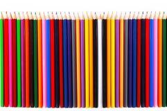 Texture des crayons sur le fond blanc Images stock