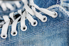 Texture des espadrilles bleues Photo stock