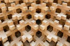 Texture des joints en bois au pavillon du Japon, EXPO Milan 2015 Images libres de droits