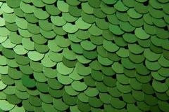 Texture des paillettes de couleur verte Photo stock