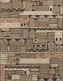 Texture des panneaux de la pierre décorative 3D sur le mur Une composition abstraite des blocs et des briques de pierre avec des  illustration de vecteur