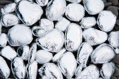 Pierres couvertes d'aluminium Image libre de droits