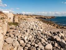 texture des roches grises sur la nature de fond de paysage de plage de côte image libre de droits