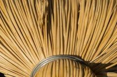 Texture des tiges brillantes jaunes fines attachées ainsi que décoratif Photographie stock libre de droits