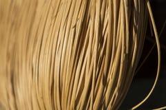 Texture des tiges jaunes fines se situant ensemble dans la même direction Image libre de droits