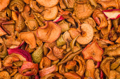 Texture des tranches sèches de pomme Photos stock
