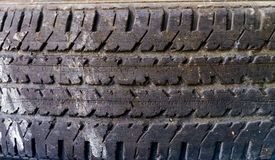 The texture design by tire. Stock Image