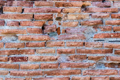 Texture detailed ancient red brick wall Royalty Free Stock Photos