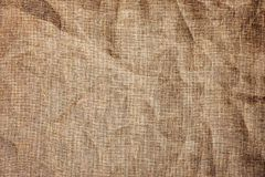 Texture detailed background jute burlap fabric crumpled Stock Photo