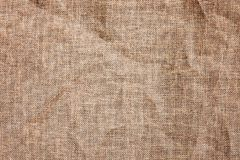 Texture detailed background jute burlap fabric crumpled Royalty Free Stock Photos