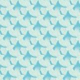 Texture diagonale bleue d'oiseaux de vol de vecteur sans couture Photo stock