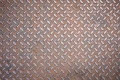Texture of diamond plate rusty metal Royalty Free Stock Photos