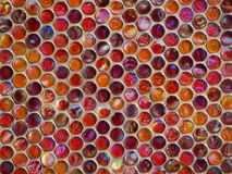Texture with different color glass circles Stock Images