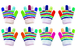 Texture - different colored baby gloves Royalty Free Stock Photos