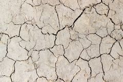 Texture of the dirt track covered with cracks closeup Royalty Free Stock Photography