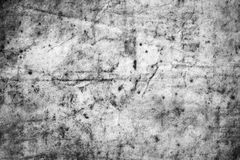 The texture of dirty and crumple old paper . Black and white Stock Image