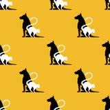 Texture_dog和猫 向量例证