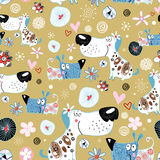 Texture of dog lovers Royalty Free Stock Images