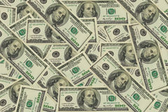 Texture dollars background. Dollars can be used for background Royalty Free Stock Photo