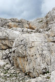 Texture of dolomite rocks in the Southern Alps Royalty Free Stock Photo