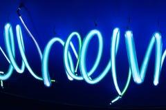 Texture douce de fond de tubes au néon Image libre de droits