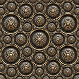 Brass Background with Classic Ornament. Texture of drawer of a beautiful carved floral work Royalty Free Stock Photography